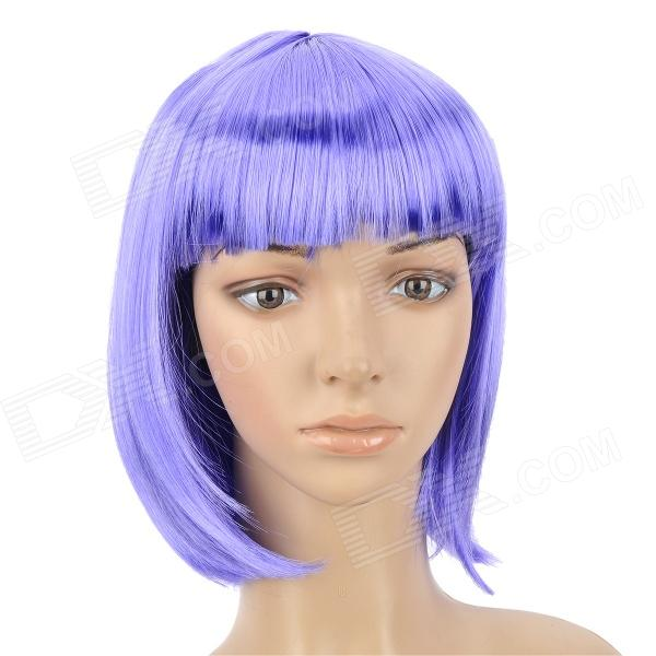 Cosplay Fashion Short Straight Hair Wig - Blue Violet