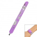 Wrist Band Style Flower Pattern Capacitive Screen Stylus Pen for Iphone 5 + More - Purple
