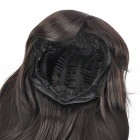 Fashion Long Hair Tilted Frisette Wig - Black