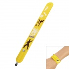 Wrist Band Style Man Taekwondo Pattern Capacitive Screen Stylus Pen for Iphone 5 + More - Yellow