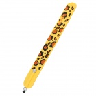 Wrist Band Style Leopard Pattern Capacitive Screen Stylus Pen for Iphone 5 + More - Khaki