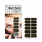 3D Cool Spider Web Pattern Nail Art Sticker - Black + Golden