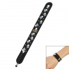 Wrist Band Style Skull Heads Pattern Capacitive Screen Stylus Pen for Iphone 5 + More - Black