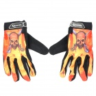 ROSWHEEL Full Finger Sport Riding Gloves - Black + Orange (Size XL)