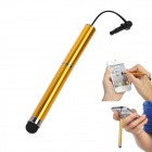 H-25 Plastic Capacitive Screen Stylus w/ Strap / 3.5mm Anti-Dust Plug - Golden
