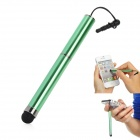 H-25 Plastic Capacitive Screen Stylus w/ Strap / 3.5mm Anti-Dust Plug - Green