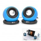 Stylish Ball Shaped USB 2.0 Speaker MP3 Player - Blue + Black