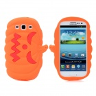 Halloween Devil Pumpkin Style Protective Silicone Case for Samsung Galaxy S3 i9300 - Orange