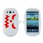 Halloween Devil Pumpkin Style Protective Silicone Case for Samsung Galaxy S3 i9300 - White