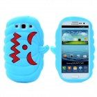 Halloween Devil Pumpkin Style Protective Silicone Case for Samsung Galaxy S3 i9300 - Light Blue