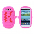 Halloween Devil Pumpkin Style Protective Silicone Case for Samsung Galaxy S3 i9300 - Deep Pink
