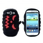 Halloween Devil Pumpkin Style Protective Silicone Case for Samsung Galaxy S3 i9300 - Black