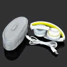 Rapoo H6080 Wireless Bluetooth 4.0 Folding Headphone Headset w/ Microphone - White + Yellow