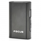 FOCUS JUNLANG Aluminum Alloy + Plastic Automatic Cigarette Case - Black