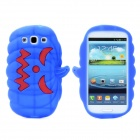 Halloween Devil Pumpkin Style Protective Silicone Case for Samsung Galaxy S3 i9300 - Blue