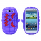 Halloween Devil Pumpkin Style Protective Silicone Case for Samsung Galaxy S3 i9300 - Purple