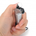 Stylish Stainless Steel Butane Jet Lighter w/ Strap - Silver