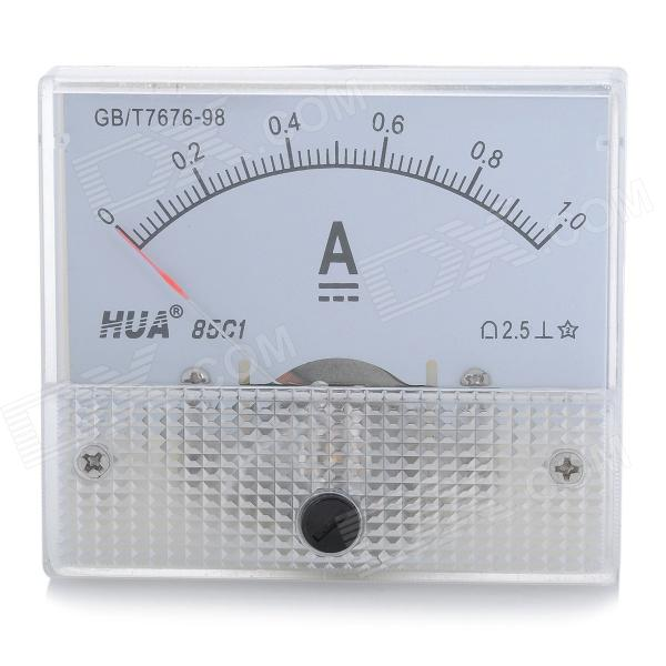 HUA 85C1 Analog 1A Current Panel Meter Ammeter - Light Blue + White