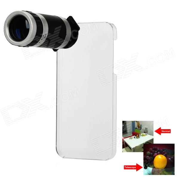 8X Zoom Telescope Lens with Crystal Back Case for Iphone 5 8x zoom telescope lens with crystal back case for iphone 5
