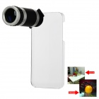 8X Zoom Telescope Lens with Crystal Back Case for iPhone 5
