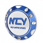 NCY Motorcycle DIY Aluminum Alloy Back Clamping Nut for Yamaha / Honda / Kimco - Blue + Silver