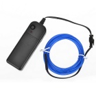 EL-3M Folding Bending 3-Mode Neon Blue Light Cable w/ Battery Case - Blue (3m / 2 x AA)