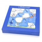 Xiaoguaidan 0709 Polar Bear and Fish Pattern Intelligent Education Puzzle Toy - Blue + White
