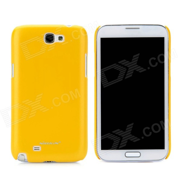 NILLKIN Protective Plastic Back Case w/ Screen Protector for Samsung Galaxy Note 2 N7100 - Yellow nillkin protective plastic back case w screen protector for samsung galaxy note 2 n7100 yellow