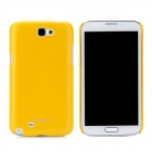 NILLKIN Protective Plastic Back Case w/ Screen Protector for Samsung Galaxy Note 2 N7100 - Yellow