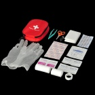 M1209003 Emergency First Aid Kit Bag Survival Tool Set - Red
