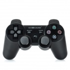 GOIGAME Rechargeable Bluetooth Wireless DoubleShock III Controller for PS3 - Black + Silver