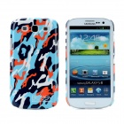 Bensy Protective Camouflage Plastic Case for Samsung i9300 Galaxy S3 - Blue + Black + Red + White