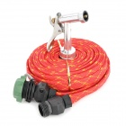 Car Wash Nozzle Spray Head Water Gun with Hose - Red + Black (15m)
