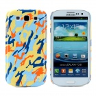 Bensy Protective Camouflage Plastic Case for Samsung i9300 Galaxy S3 - Yellow + Blue + Orange