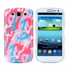 Bensy Protective Camouflage Plastic Case for Samsung i9300 Galaxy S3 - Pink + Blue + White