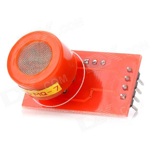 mq 7 carbon monoxide detection sensor tomato red MQ7 High Sensitivity Carbon Monoxide Detector Sensor - Red + Silver