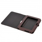 Protective PU Leather Case for Kindle Fire HD - Coffee