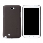 NILLKIN Protective Plastic Back Case w/ Screen Protector for Samsung Galaxy Note 2 N7100 - Brown