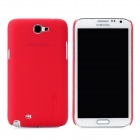 NILLKIN Protective Plastic Back Case w/ Screen Protector for Samsung Galaxy Note 2 N7100 - Red