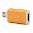 Micro USB 11-Pin Male to Micro USB 5-Pin Female Adapter for Samsung Galaxy S3 i9300 - Golden