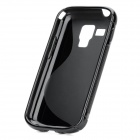 Protective TPU Back Case for Samsung Galaxy S Duos S7562 - Black