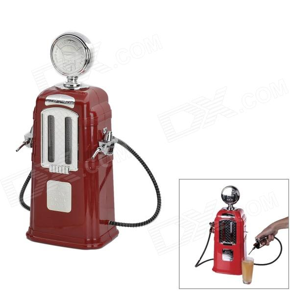 Gas Pump Style Bar Butler Double Pipes Beverage Liquor Dispenser - Red