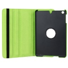 Lychee Pattern 360 Degrees Rotation Protective PU Leather Case for Ipad MINI - Green