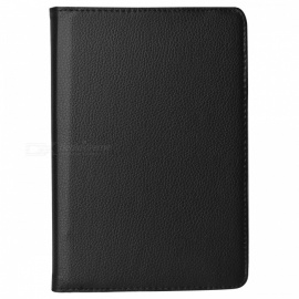 Lychee Pattern 360 Degrees Rotation Protective PU Leather Case for Ipad MINI - Black