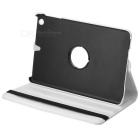 360 Degrees Rotation Protective PU Leather Case for Ipad MINI - White