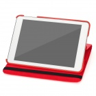 Lychee Pattern 360 Degrees Rotation Protective PU Leather Case for Ipad MINI - Red