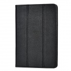 Lychee Pattern Flip Open Protective PU Leather Case for Ipad MINI - Black