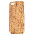 PU Leather Cover Wood Grain Style Protective PC Hard Back Case for Iphone 5 - Wood Color