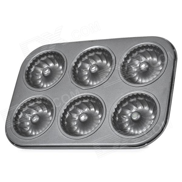 Hollow Center Round Shaped Cake Maker DIY Mould Tray - Dim Grey silicone skeleton shaped ice cubes trays maker diy mould random color