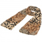 Leopard Grain Pattern Fashion Chiffon Scarf Shawl - Light Brown
